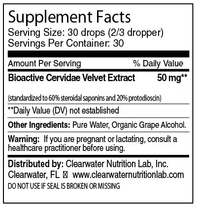 Clearwater Nutrition Lab - Cervidae Velvet Extract