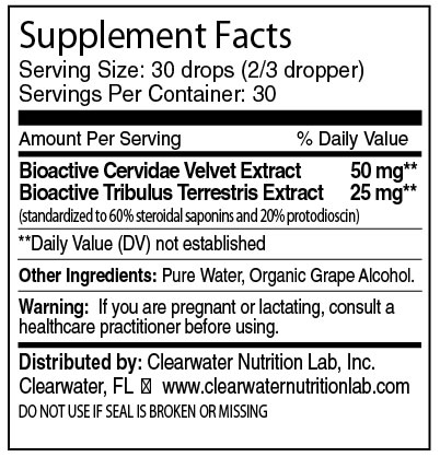 Clearwater Nutrition Lab - Cervidae Velvet Extract with Tribulus